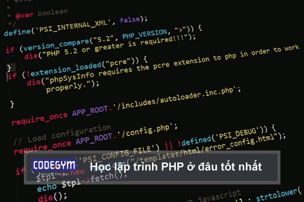 Học lập trình PHP ở đâu tốt nhất