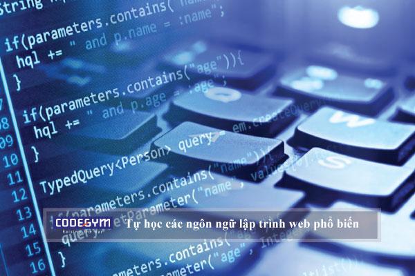 Cách tự học các ngôn ngữ lập trình web phổ biến hiện nay