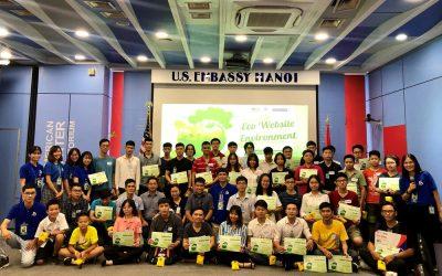 Phối hợp với Trung tâm Hoa Kỳ tổ chức cuộc thi làm Website truyền thông bảo vệ môi trường