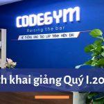 Thông báo lịch khai giảng Quý I.2020 – CodeGym