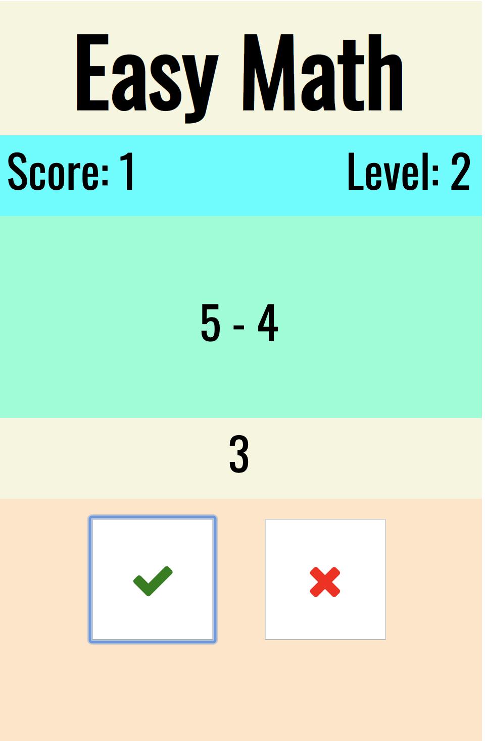 làm game Easy Math với Javascript
