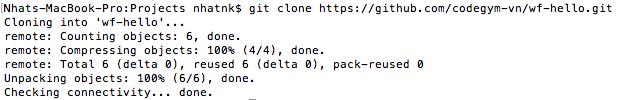 Clone dự án từ Git