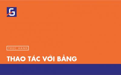 [Thực hành] Thao tác với bảng- Codegym.vn