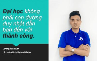 """Dương Tuấn Anh: """"Sau khi tốt nghiệp CodeGym, mình đang là lập trình viên trẻ nhất tại Agilead Global"""""""