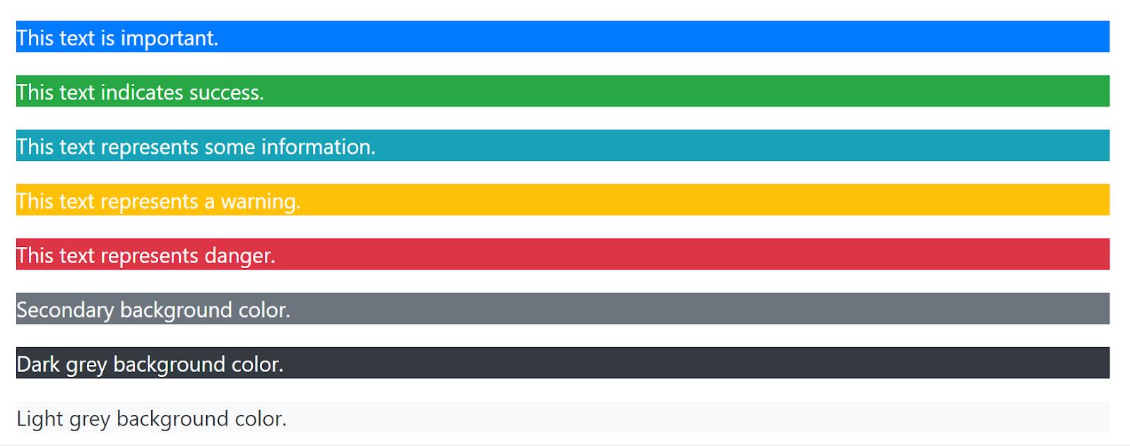 Màu sắc trong Bootstrap 4