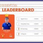 Quán quân CodeGym Leader Board tháng 6/2020 chính thức lộ diện