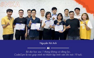 Nguyễn Kế Anh – bỏ đại học sau 1 tháng và câu chuyện tới CodeGym học lập trình