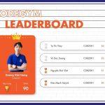 CodeGym Leaderboard tháng 9/2020 gọi tên quán quân Dương Việt Hưng