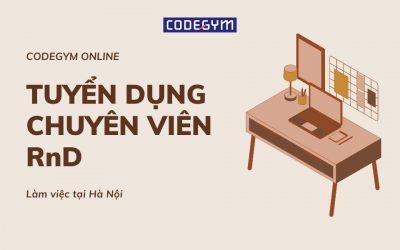 [CodeGym Online] Tuyển dụng Chuyên viên nghiên cứu và Phát triển chương trình đào tạo